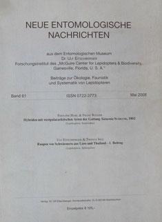 Neue Entomologische Nachrichten Eitschberger 2008