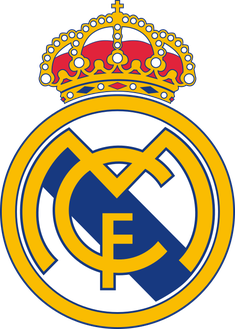 Logo von Real Madrid mit Kreuz (Quelle: Wikipedia, User: Szczepan1990)