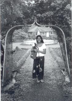 Asha Miró a l'Índia l'agost de 1995
