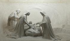 Sculpture sous l'autel de la chapelle Ste Thérèse de la Maison Famille Martin à Alençon