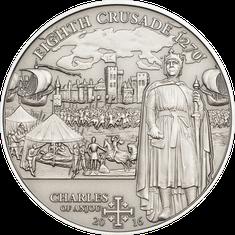 Monnaie commémorative 8ème croisade – Charles d'Anjou  Îles Cook 2016 - 5 Dollars