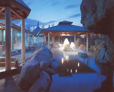 温浴施設 擬岩内装