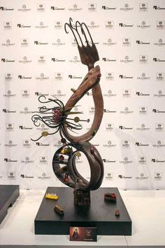 Réalisation de Yvan Chevalier lors du Championnat du Monde du Chocolat