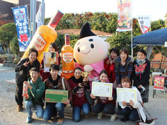 第一回ご当地カクテル茅ヶ崎サザングランプリ グランプリ・準グランプリ・3位受賞のみなさんとえぼし麻呂