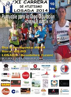 XI CARRERA DE LOSADA - Losada del Bierzo, 09-08-2014