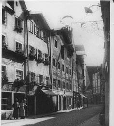 Historische Ansicht der Brunnengasse, ca. 1910