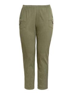 khaki Plus Size Stretch-Hose , Größe 48
