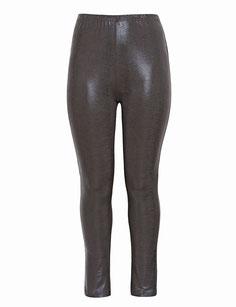 braune Leggings für große Größen , Legging in Größe 48