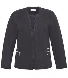 elegante Jacke schwarz in großen größen