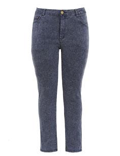 schwarz-goldene Plussize Damen Jeans, Größe 50