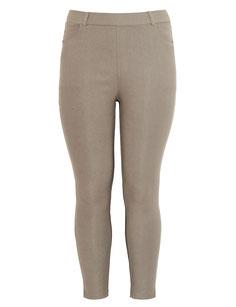 Plus Size Leggings mit grafischem Muster, schwarz mit gold