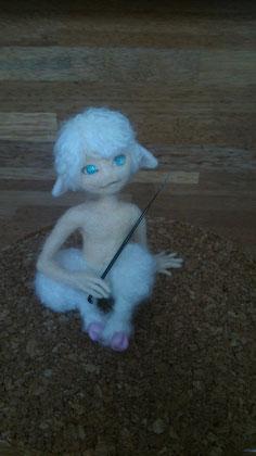 羊毛フェルト 半獣 羊 フォーン