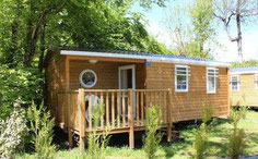 Mini cottage rental Limoges Limousin chalet cabin mobile home camping pont du dognon
