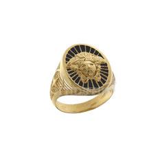 Anello da uomo  in oro  giallo  con medusa - prezzi