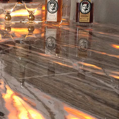 Onyx natural stone bar can be backlit