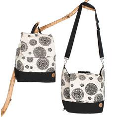 Rucksack-Tasche-Premium schwarz Stern