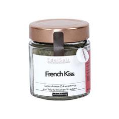 Glas mit Kupferdeckel gefüllt mit Kräutersalz French Kiss
