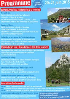 Fête de la Randonnée - Pyrénées Audoises - Programme 2015