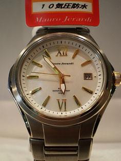 貝文字盤 チタン ソーラー 腕時計