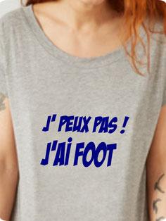 tee shirt femme foot