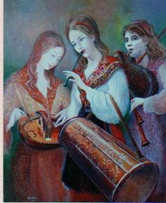 Tableau de René Carrère,                      peintre vielliste à Mouans Sartoux