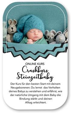 Onlinekurs Baby Schwangerschaft Geburt Crashkurs Steinzeitbaby