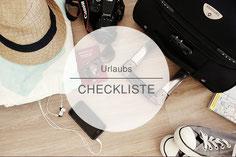 Checkliste Urlaub, Packliste, Reise
