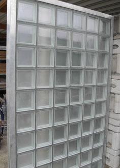 Glasbaustein Trennwand