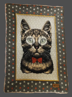 Katzendecke Liegedecke 'Mr. Meow' stylisches Katzenmotiv
