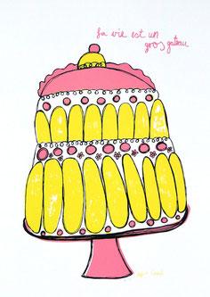 «La vie est un gros gateau» (Farbvariante Pink)
