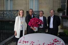 de gauche à droite : Dominique Bona, Arnaud Delbard, Yves Rouart, Jean-Marie Rouart
