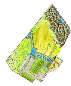 Plan masse d'un domaine de 12,5 ha