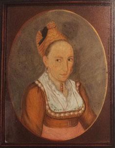 Goldhaubenfrau mit seidenem Gewand, 1823, Heimatmuseum Simbach am Inn