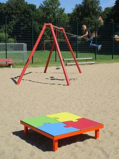 Puzzle HPL SpielPlatz - Sitzdeck aus HPL - 4 Puzzleteile