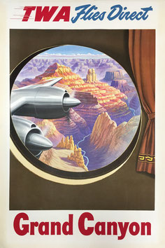 Original vintage TWA Grand Canyon poster