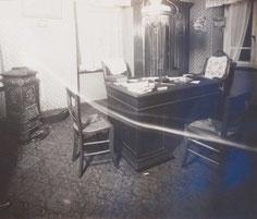 Das Büro des Pfarrers nach der Tat