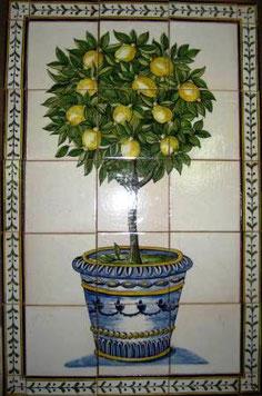 """Limonenbaum im Topf"" Art.-Nr.: PN-105, Größe: 79x51cm"