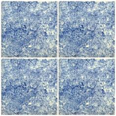 "Art.-Nr.: ""Fliese Blau - Esp."", Masse: 14x14cm x 2"