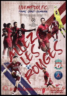 Programme  Liverpool-PSG  2018-19