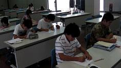 開始早々の英語のテスト