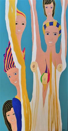 Liberté , acrylique sur bois D.Petit