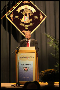 1. Vorsitzender Bernd Ruf beim Festabend