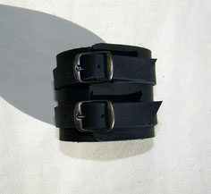bracelet homme en cuir noir made in France ml-sellier