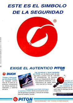 Publicidad Llave del auténtico Pitón Original Duch - 1995
