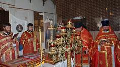 Престол в Иоанновском храме с. Пешково 21.05.2013 г.