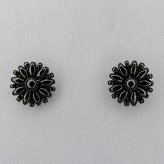 Ohrringe schwarz Duo Rocailles