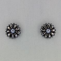 Ohrringe hematite Duo Rocailles