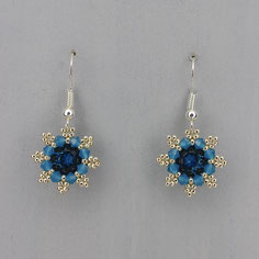 Ohrringe blau-silber Swarovski Chaton