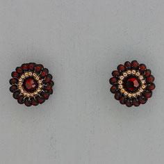 Ohrringe dunkel rot-gold Miyuki Swarovski