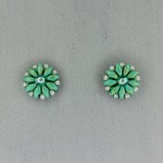 Ohrringe peridot Duo Rocailles